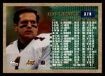 1996 Topps #374   -  Jeff George 3000 Yard Club Back Thumbnail