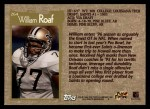 1996 Topps #264  William Roaf  Back Thumbnail