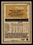 1996 Topps #420  Kevin Hardy  Back Thumbnail