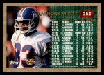 1996 Topps #256  Anthony Miller  Back Thumbnail