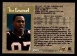 1996 Topps #394  Bert Emanuel  Back Thumbnail
