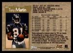 1996 Topps #407  Tony Martin  Back Thumbnail