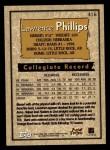 1996 Topps #416  Lawrence Phillips  Back Thumbnail