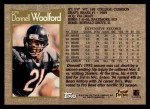 1996 Topps #279  Donnell Woolford  Back Thumbnail