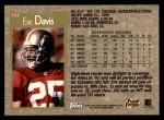 1996 Topps #354  Eric Davis  Back Thumbnail