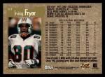 1996 Topps #317  Irving Fryar  Back Thumbnail
