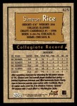 1996 Topps #425  Simeon Rice  Back Thumbnail