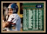1996 Topps #376   -  John Elway 3000 Yard Club Back Thumbnail