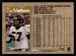 1996 Topps #297  Clay Matthews  Back Thumbnail