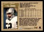1996 Topps #329  Mike Jones  Back Thumbnail