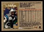 1996 Topps #299  Tim McKyer  Back Thumbnail