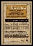 1996 Topps #427  Tim Biakabutuka  Back Thumbnail