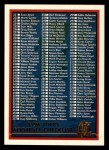 1996 Topps #440   Checklist 2 of 2 Front Thumbnail