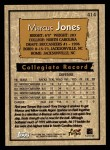 1996 Topps #414  Markus Jones  Back Thumbnail