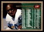 1996 Topps #246  Brett Perriman  Back Thumbnail