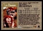 1996 Topps #303  Lake Dawson  Back Thumbnail