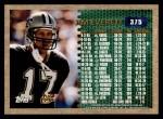 1996 Topps #375   -  Jim Everett 3000 Yard Club Back Thumbnail