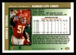 1997 Topps #160  Derrick Thomas  Back Thumbnail