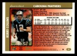 1997 Topps #80  Kerry Collins  Back Thumbnail