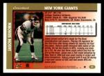 1997 Topps #24  Jason Sehorn  Back Thumbnail