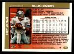 1997 Topps #110  Troy Aikman  Back Thumbnail
