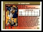 1997 Topps #25  Isaac Bruce  Back Thumbnail