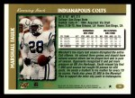 1997 Topps #10  Marshall Faulk  Back Thumbnail