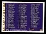 1997 Topps #384   Checklist 1 (1-208) Back Thumbnail