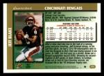 1997 Topps #375  Jeff Blake  Back Thumbnail