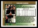 1997 Topps #216  Jeff George  Back Thumbnail