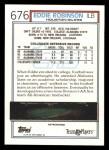 1992 Topps #676  Eddie Robinson  Back Thumbnail