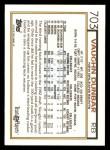 1992 Topps #703  Vaughn Dunbar  Back Thumbnail