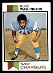 1973 Topps #199  Russ Washington  Front Thumbnail