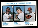 1973 Topps #614   -  Dwight Evans / Al Bumbry / Charlie Spikes Rookie Outfielders Front Thumbnail