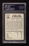 1960 Leaf #81  Harry Simpson  Back Thumbnail