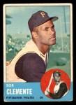 1963 Topps #540  Roberto Clemente  Front Thumbnail