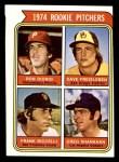 1974 Topps #599 *SM*  -  Dave Freisleben / Ron Diorio / Frank Riccelli / Greg Shanahan Rookie Pitchers   Front Thumbnail