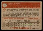 1952 Topps #27  Sam Jethroe  Back Thumbnail