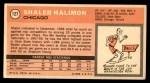 1970 Topps #127  Shaler Halimon   Back Thumbnail