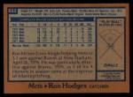1978 Topps #653  Ron Hodges  Back Thumbnail