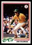 1978 Topps #554  Joe Coleman  Front Thumbnail