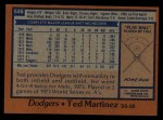 1978 Topps #546  Ted Martinez  Back Thumbnail