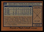 1978 Topps #331  Mark Littell  Back Thumbnail