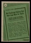 1979 Topps #205   -  John Stearns Record Breaker Back Thumbnail