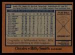 1978 Topps #666  Billy Smith  Back Thumbnail