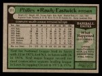 1979 Topps #271  Rawly Eastwick  Back Thumbnail