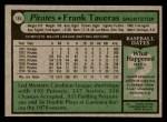 1979 Topps #165  Frank Taveras  Back Thumbnail