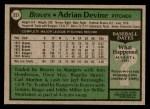 1979 Topps #257  Adrian Devine  Back Thumbnail