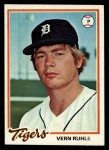 1978 Topps #456  Vern Ruhle  Front Thumbnail