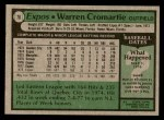 1979 Topps #76  Warren Cromartie  Back Thumbnail